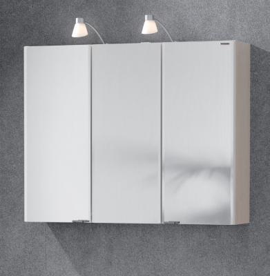 90cm badezimmer halogen spiegelschrank birke nb bad spiegel badspiegel steckdose ebay. Black Bedroom Furniture Sets. Home Design Ideas