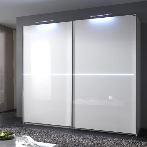schwebet renschrank wei glanz white led lichtleiste. Black Bedroom Furniture Sets. Home Design Ideas