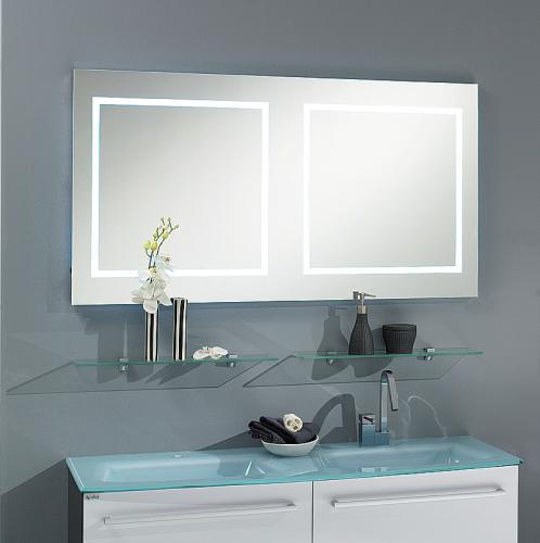 badezimmer led wandspiegel alurahmen badm bel spiegel bad g ste wc waschplatz ebay. Black Bedroom Furniture Sets. Home Design Ideas
