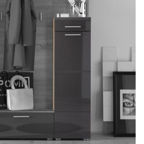 schuhschrank hochglanz anthrazit goldkernbuche garderobe schuhkipper flur ebay. Black Bedroom Furniture Sets. Home Design Ideas