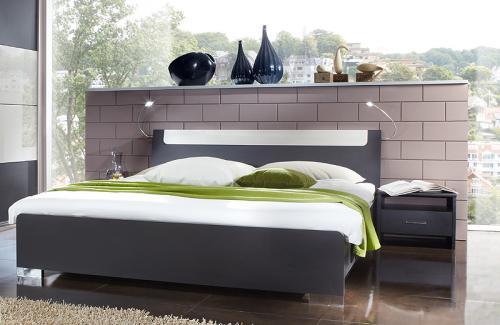 Schlafzimmer 3 tlg lavafarbig glas grau futonbett - Amerika schlafzimmer ...