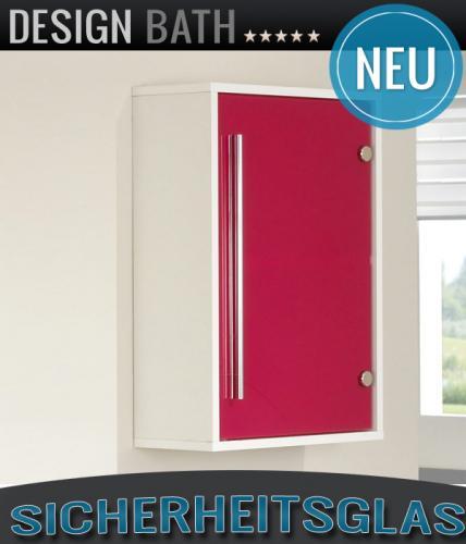 neu badezimmer h ngeschrank wei glas pink h nger. Black Bedroom Furniture Sets. Home Design Ideas