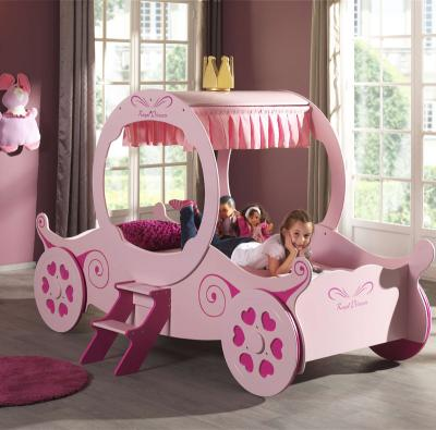 wow prinzessinen kinderbett rosa jugendbett m dchenb tt kinderzimmer kutsche ebay. Black Bedroom Furniture Sets. Home Design Ideas