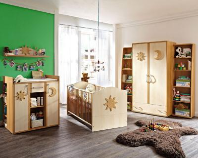 top 7 tlg babyzimmer set in buche birke kleiderschrank. Black Bedroom Furniture Sets. Home Design Ideas