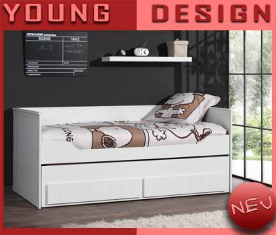 neu kojenbett lack wei jugendbett kinderbett stauraum ausziehbar kinderzimmer. Black Bedroom Furniture Sets. Home Design Ideas