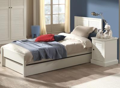 neu 2 tlg jugendzimmer set in lack wei im landhausstil. Black Bedroom Furniture Sets. Home Design Ideas