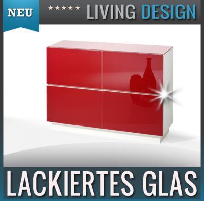 neu modernes sideboard glasfront in rot kommode highboard flurschrank anrichte ebay. Black Bedroom Furniture Sets. Home Design Ideas