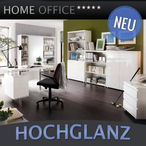 neu 8 tlg komplett b ro in hochglanz weiss b rom bel. Black Bedroom Furniture Sets. Home Design Ideas