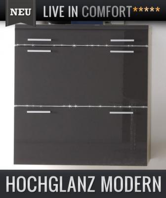 neu h nge schuhschrank hochglanz anthrazit eiche sonoma. Black Bedroom Furniture Sets. Home Design Ideas