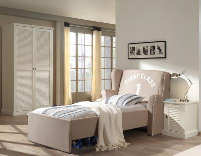 neu traumhaftes 3tlg landhaus jugendzimmer wei kleiderschrank sesselbett beige ebay On jugendzimmer landhaus