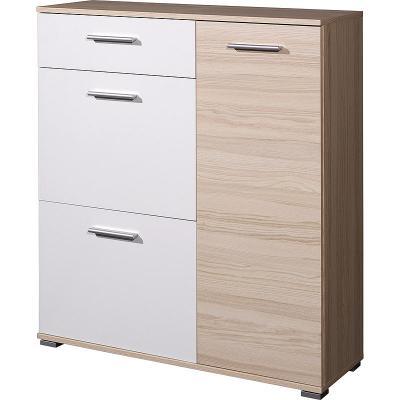 top schuhschrank in wei esche schuhkipper schuhkommode flurschrank kommode ebay. Black Bedroom Furniture Sets. Home Design Ideas