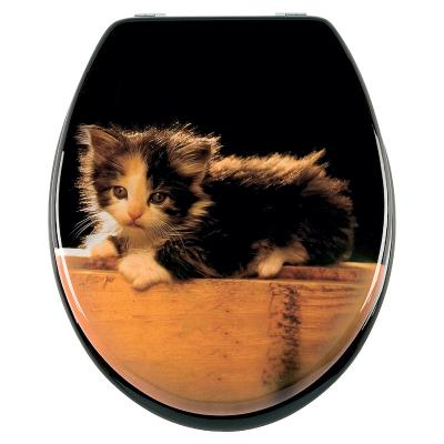 neu wc sitz mdf motiv katze toilettendeckel. Black Bedroom Furniture Sets. Home Design Ideas