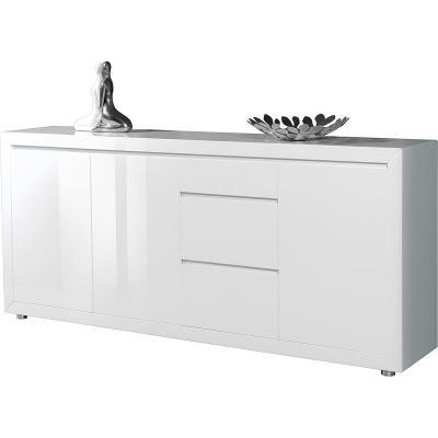 neu* modernes sideboard in hochglanz weiß lackiert kommode ... - Wohnzimmer Kommode Weis