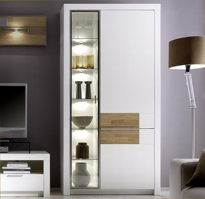 wohnzimmer vitrine, top* standvitrine eiche sÄgerau lack weiss highboard wohnzimmer, Design ideen