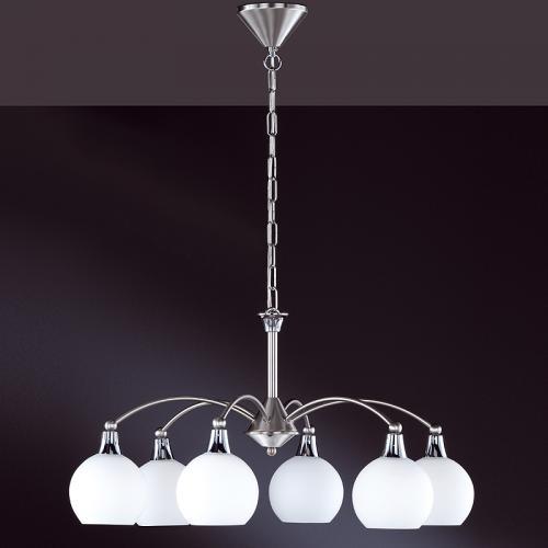 kronleuchter weimar 6 flammig edelstahl deckenleuchte deckenlampe h ngeleuchte ebay. Black Bedroom Furniture Sets. Home Design Ideas