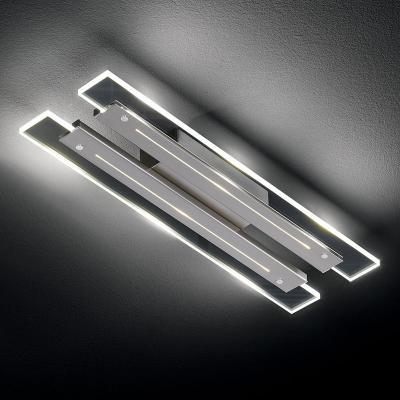 neu design led deckenleuchte edelstahl finish chrom deckenlampe wandleuchte ebay. Black Bedroom Furniture Sets. Home Design Ideas
