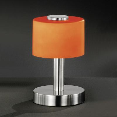 wow 20cm tischleuchte glas orange tischlampe. Black Bedroom Furniture Sets. Home Design Ideas
