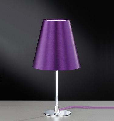 wow tischleuchte lila chrom tischlampe stehlampe nachttischlampe stehleuchte ebay. Black Bedroom Furniture Sets. Home Design Ideas