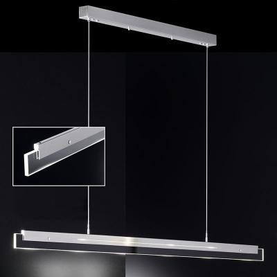 neu design led pendelleuchte edelstahl finish glas klar. Black Bedroom Furniture Sets. Home Design Ideas