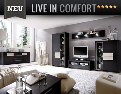 Neu exklusive wohnwand sideboard in esche funier for Exklusive wohnwand