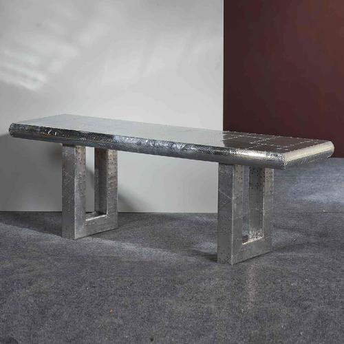 design sitzbank aluminium poliert bank garderobenm bel garderobe flur flurm bel ebay. Black Bedroom Furniture Sets. Home Design Ideas