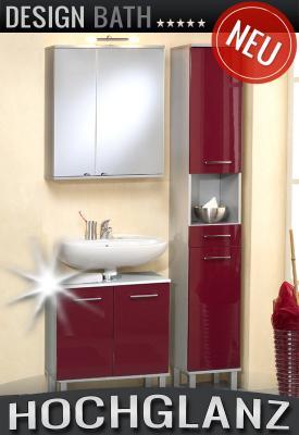 wow 3tlg badm bel set in hochglanz rot spiegelschrank hochschrank badezimmer ebay. Black Bedroom Furniture Sets. Home Design Ideas