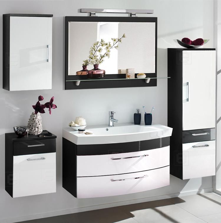 komplett badezimmer set hochglanz anthrazit waschtisch. Black Bedroom Furniture Sets. Home Design Ideas