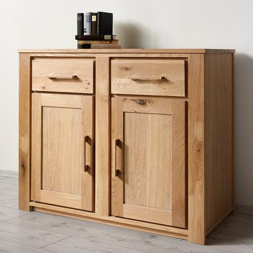 neu sideboard wildeiche massiv ge lt 110cm kommode esszimmer highboard anrichte ebay. Black Bedroom Furniture Sets. Home Design Ideas