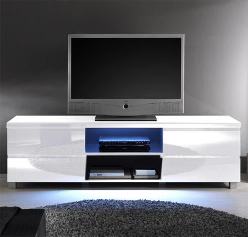 neu lowboard hochglanz wei lack led tv lcd kommode. Black Bedroom Furniture Sets. Home Design Ideas