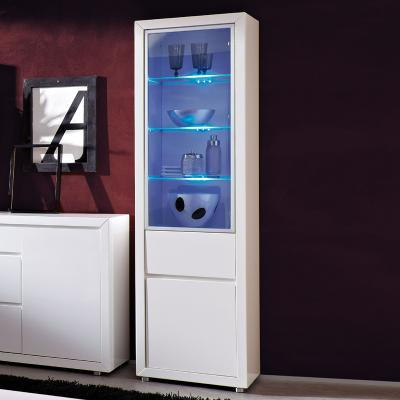 neu standvitrine hochglanz weiss led highboard wohnwand vitrine vitrinenschrank ebay. Black Bedroom Furniture Sets. Home Design Ideas