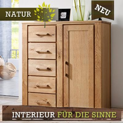 neu mehrzweckschrank wildeiche massiv ge lt 110cm. Black Bedroom Furniture Sets. Home Design Ideas