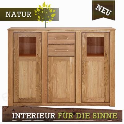 neu exkl highboard wildeiche massiv ge lt kommode. Black Bedroom Furniture Sets. Home Design Ideas
