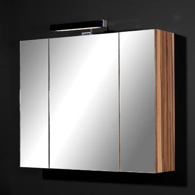 top badezimmer spiegelschrank in walnuss badschrank h ngeschrank wandschrank ebay. Black Bedroom Furniture Sets. Home Design Ideas