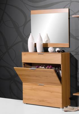 neu* 2-tlg garderoben set kernbuche schuhschrank garderobe spiegel, Gestaltungsideen
