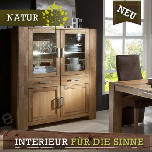 neu highboard wildeiche massiv ge lt esszimmer buffet. Black Bedroom Furniture Sets. Home Design Ideas