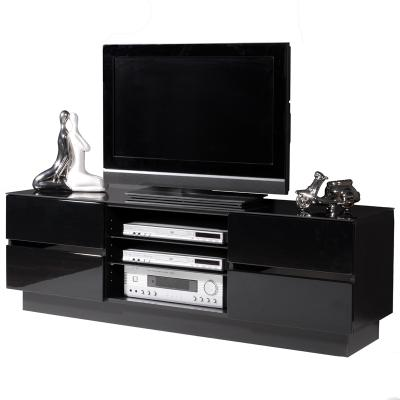 top edles lowboard hochglanz schwarz tv rack kommode. Black Bedroom Furniture Sets. Home Design Ideas