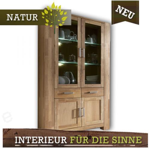 neu highboard wildeiche massiv ge lt esszimmer buffet vitrine vitrinenschrank ebay. Black Bedroom Furniture Sets. Home Design Ideas