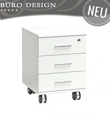 NEU* Büromöbel Rollcontainer in weiß abschliessbar Büro Schreibtisch ...
