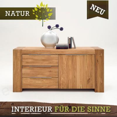 neu edles sideboard wildeiche massiv ge lt montiert. Black Bedroom Furniture Sets. Home Design Ideas