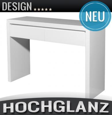 neu konsolentisch hochglanz wei lack schminktisch. Black Bedroom Furniture Sets. Home Design Ideas