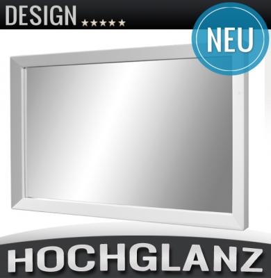 neu wandspiegel hochglanz wei lack spiegel garderobenspiegel panoramspiegel ebay. Black Bedroom Furniture Sets. Home Design Ideas