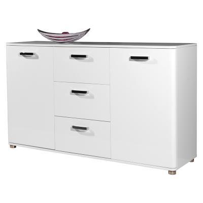 wow exklusives sideboard 144cm hochglanz wei lack kommode anrichte flurschrank ebay. Black Bedroom Furniture Sets. Home Design Ideas
