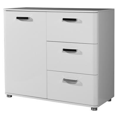 wow exklusives sideboard 96cm hochglanz wei lack kommode anrichte flurschrank ebay. Black Bedroom Furniture Sets. Home Design Ideas