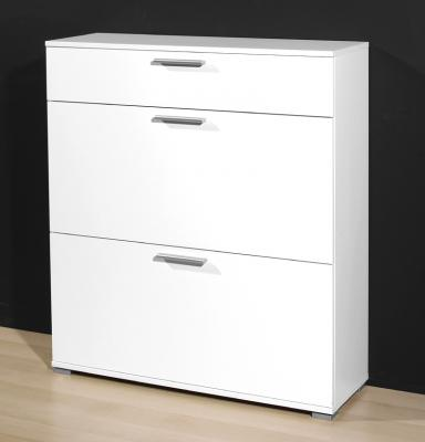 neu garderobe schuhschrank wei 16 paar schuhkommode. Black Bedroom Furniture Sets. Home Design Ideas