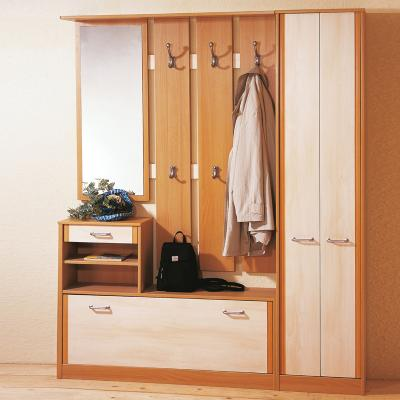 neu flur garderobe in buche birke schuhschrank kleiderschrank wandgarderobe ebay. Black Bedroom Furniture Sets. Home Design Ideas