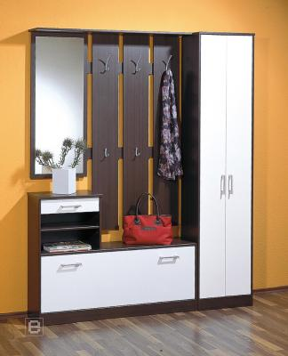 neu flur garderobe in wenge wei schuhschrank kleiderschrank wandgarderobe ebay. Black Bedroom Furniture Sets. Home Design Ideas