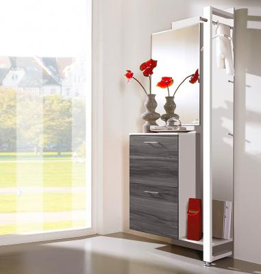 top garderobe in weiss esche karbon schuhschrank spiegel wandgarderobe paneel ebay. Black Bedroom Furniture Sets. Home Design Ideas