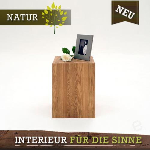neu nachttisch h 75cm wildeiche massiv nachtkonsole. Black Bedroom Furniture Sets. Home Design Ideas