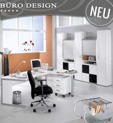 neu 10 tlg komplett b rom bel set schwarz weiss b ro aktenschrank schreibtisch ebay. Black Bedroom Furniture Sets. Home Design Ideas