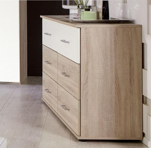 schlafzimmer kommode eiche s gerau wei sideboard. Black Bedroom Furniture Sets. Home Design Ideas